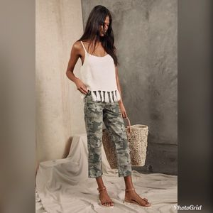 Free People Remy Green Camo Print High-Waisted